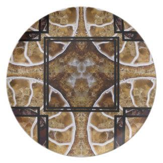 Marbled Melamine Plate