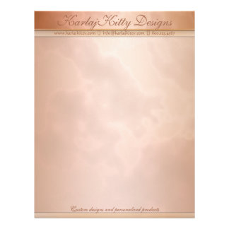 Marbled Mocha and Rose Personalized Letterhead