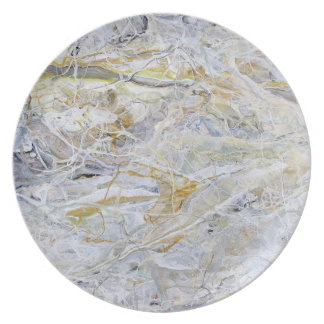 Marbled Painting. Plate