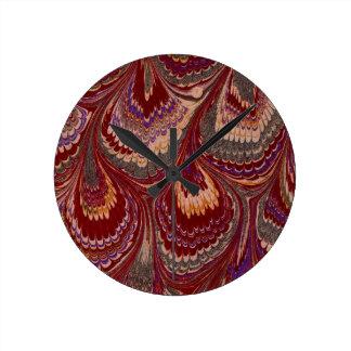 Marbled Paper 1 Motif Round Clock