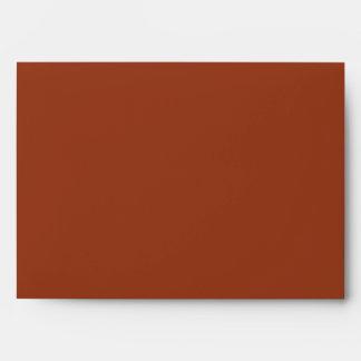 Marbled Paper Autumn Colors Invitation Envelope