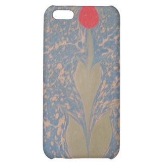 marbled paper blue dream tulip iPhone 4 Case