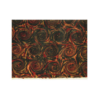 Marbled Paper & Circular Strokes Canvas Print