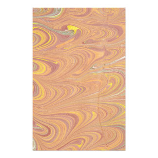 Marbled Paper Design Customized Stationery