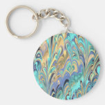 marbled paper Keychain