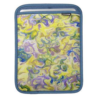 marbled paper oil paint art iPad sleeves