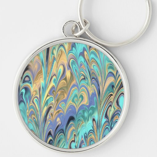 marbled paper pattern Keychain