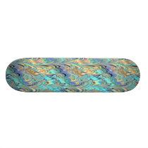 marbled paper pattern Skateboard