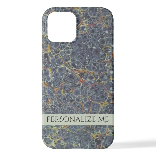 Marbled Paper with Name iPhone 12 Case