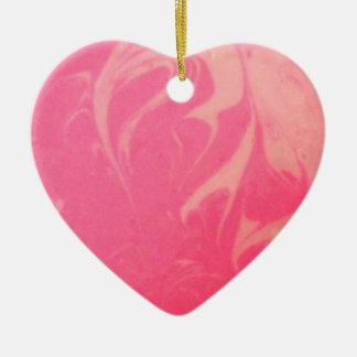 Marbled Pink Dessert Photography Ceramic Ornament