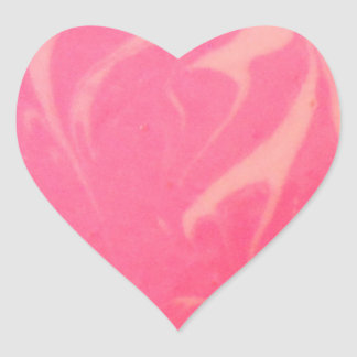 Marbled Pink Dessert Photography Heart Sticker