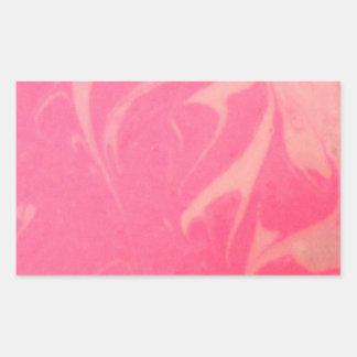 Marbled Pink Dessert Photography Rectangular Sticker