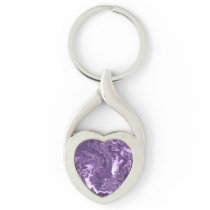 Marbled Purple Keychain