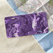 Marbled Purple License Plate