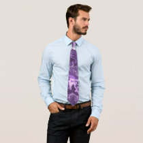 Marbled Purple Neck Tie