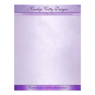 Marbled Purple Personalized Letterhead