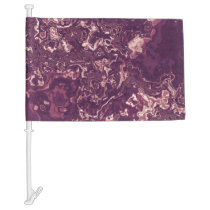 Marbled Red Car Flag