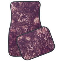 Marbled Red Car Floor Mat