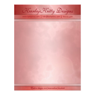 Marbled Red Personalized Letterhead