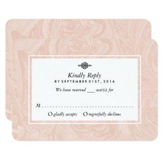Marbled Rose Elegant Vintage Wedding RSVP Card