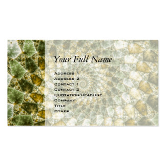 Marbled Shards - Mandelbrot Art Double-Sided Standard Business Cards (Pack Of 100)