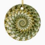 Marbled Shards - Mandelbrot Art Ceramic Ornament