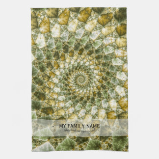 Marbled Shards - Mandelbrot Art Hand Towels