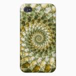 Marbled Shards - Mandelbrot Art iPhone 4 Case