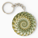 Marbled Shards - Mandelbrot Art Keychain