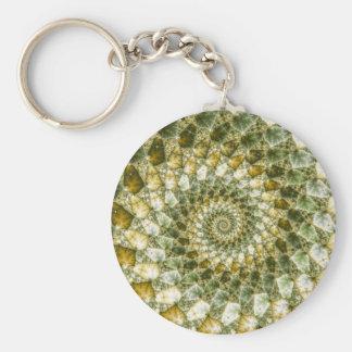 Marbled Shards - Mandelbrot Art Keychain