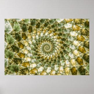 Marbled Shards - Mandelbrot Art Poster