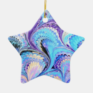 Marbled Star Christmas Ornament