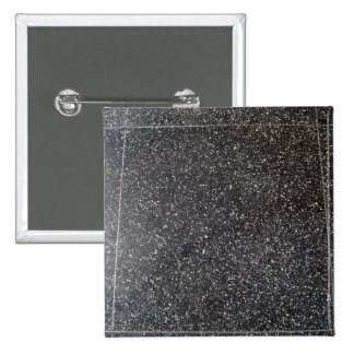 marbled stone tile black white 2 inch square button
