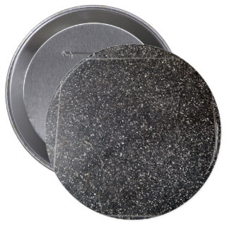 marbled stone tile black white 4 inch round button
