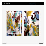 Marbled Swirl Painted Metal Photo Kindle Fire Skin