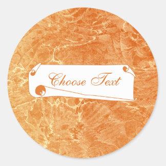 Marbled Tan Classic Round Sticker