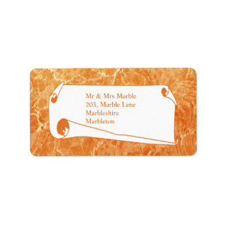 Marbled Tan Label