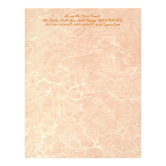 Marbled Tan Letterhead Design