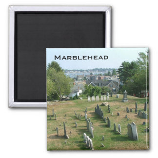 Marblehead 2 Inch Square Magnet