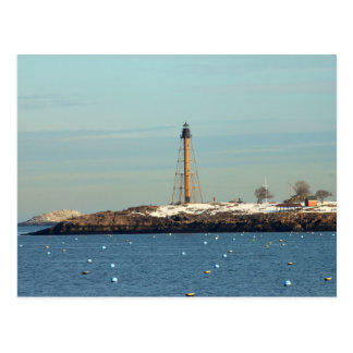 Marblehead Lighthouse from Waterfront Postcard