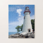 """Marblehead Lighthouse Jigsaw Puzzle<br><div class=""""desc"""">Marblehead Lighthouse. Located on the shores of Ohio&#39;s  Lake Erie.</div>"""