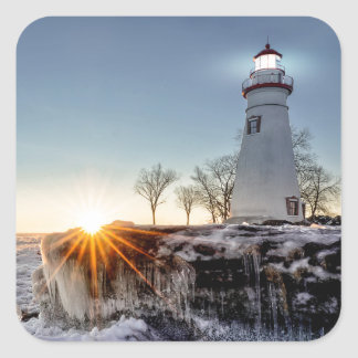 Marblehead Lighthouse Square Sticker