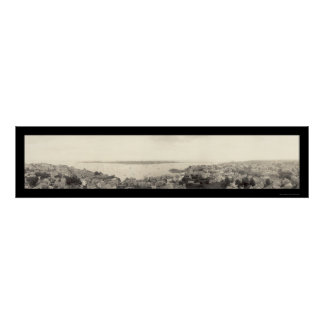 Marblehead MA Birdseye Photo 1912 Poster