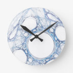 MarbleIce Abstract Art Wall Clock