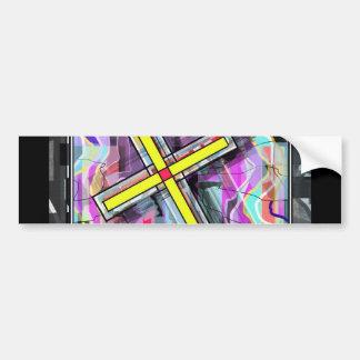 Marbleized Crucifix. Bumper Stickers