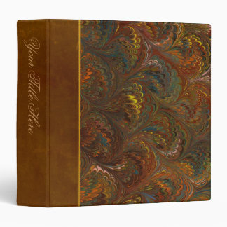 Marbleized Endpaper Pattern Binder