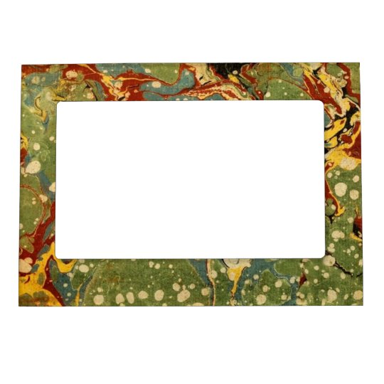 Marbleized Green Magnetic Picture Frame