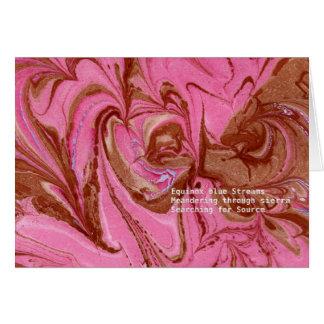 Marbleized Greeting Card
