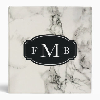 Marbleous Marble with Tripple Monogram 3 Ring Binder