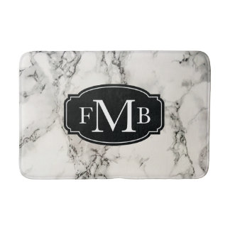 Marbleous Marble with Tripple Monogram Bath Mat